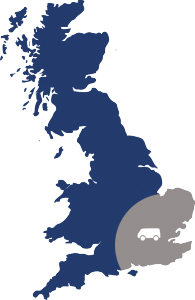 electrical lighting installation in Essex and London - Map of coverage