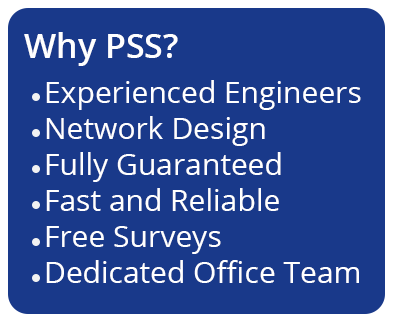 Experienced engineers, network design, fully guaranteed, fast and reliable, free surveys, dedicated office team