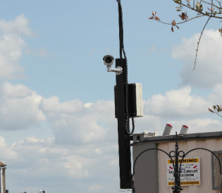 Camera raised on pole - CCTV Leasing options, save money on your CCTV installation