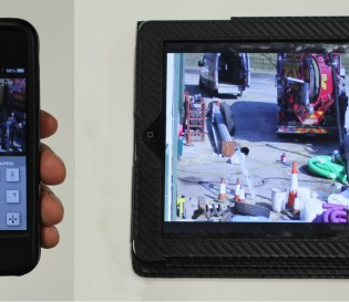 iPhone and iPad showing remote monitoring of CCTV images from Project Skills Solutions