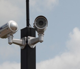 2 cameras on pole - security surveillance from Project Skills Solutions, Essex, London and UK
