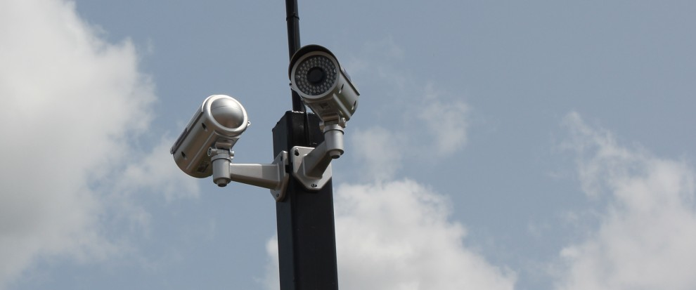 CCTV cameras attached to pole - CCTV Solutions from Project Skills Solutions