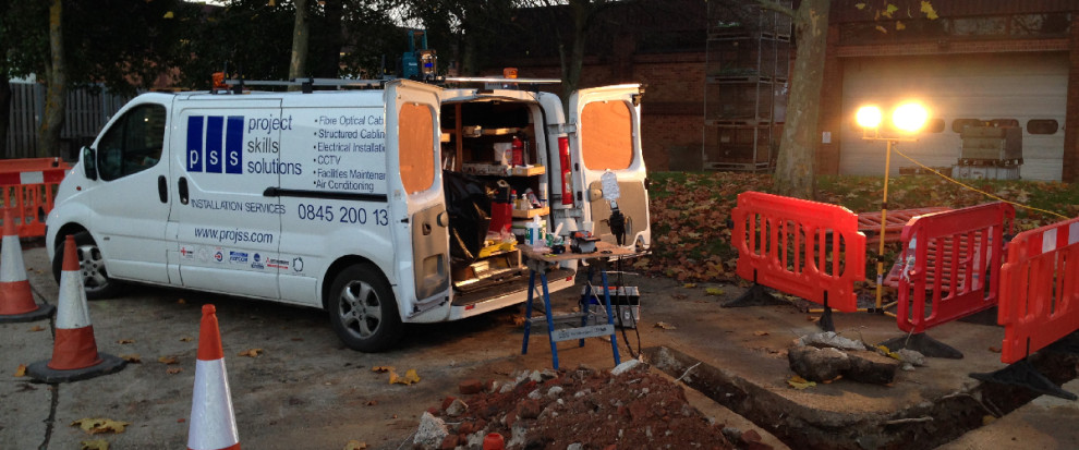 fibre optic cable installation, Essex, London,UK
