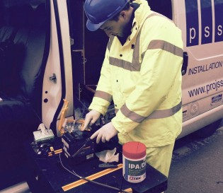 Fibre Optic Termination fusion splicing services, Essex, London, UK