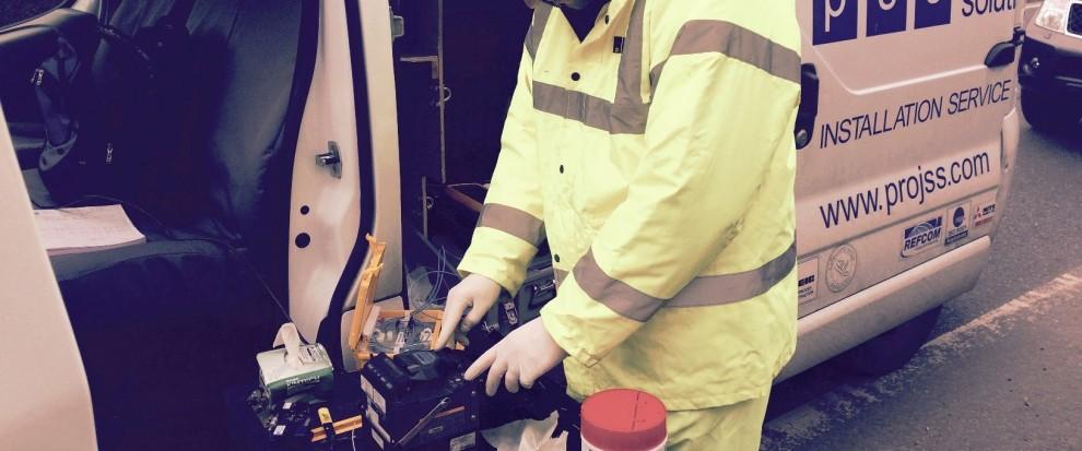 Fibre Optic Termination fusion splicing services, Essex, London, UK
