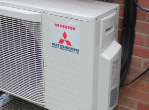 Mitsubishi products used in air conditioning installation