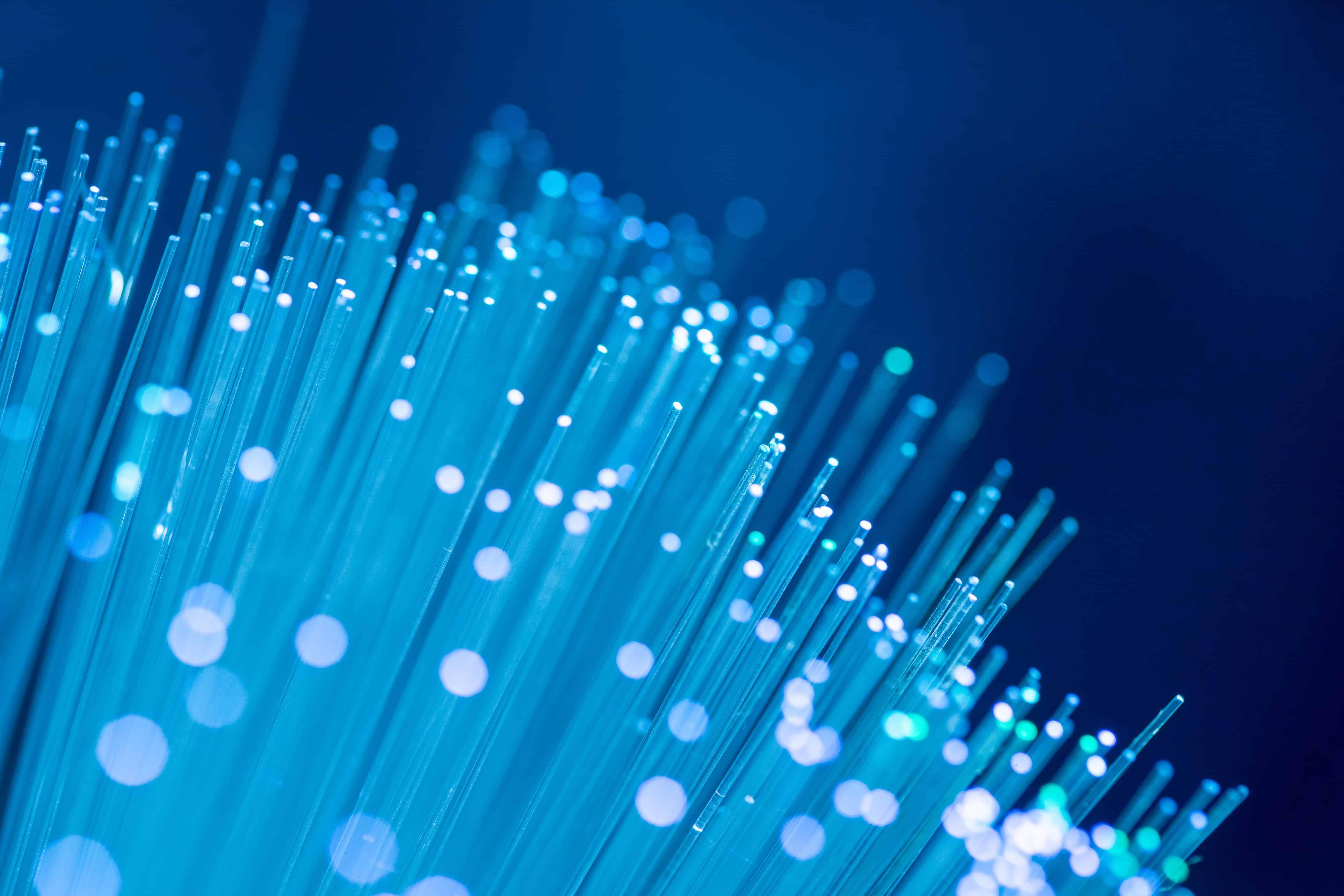 A close-up image of fibre optic cables.