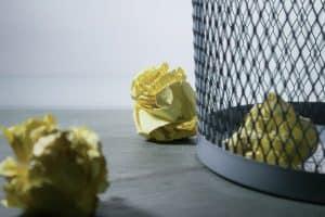 An image of a paper bin.