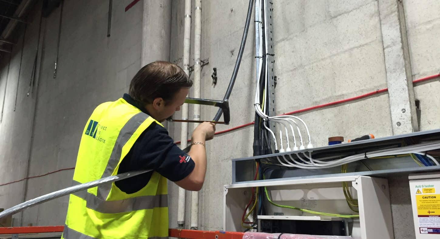 Changes to cabling on elevated work platform