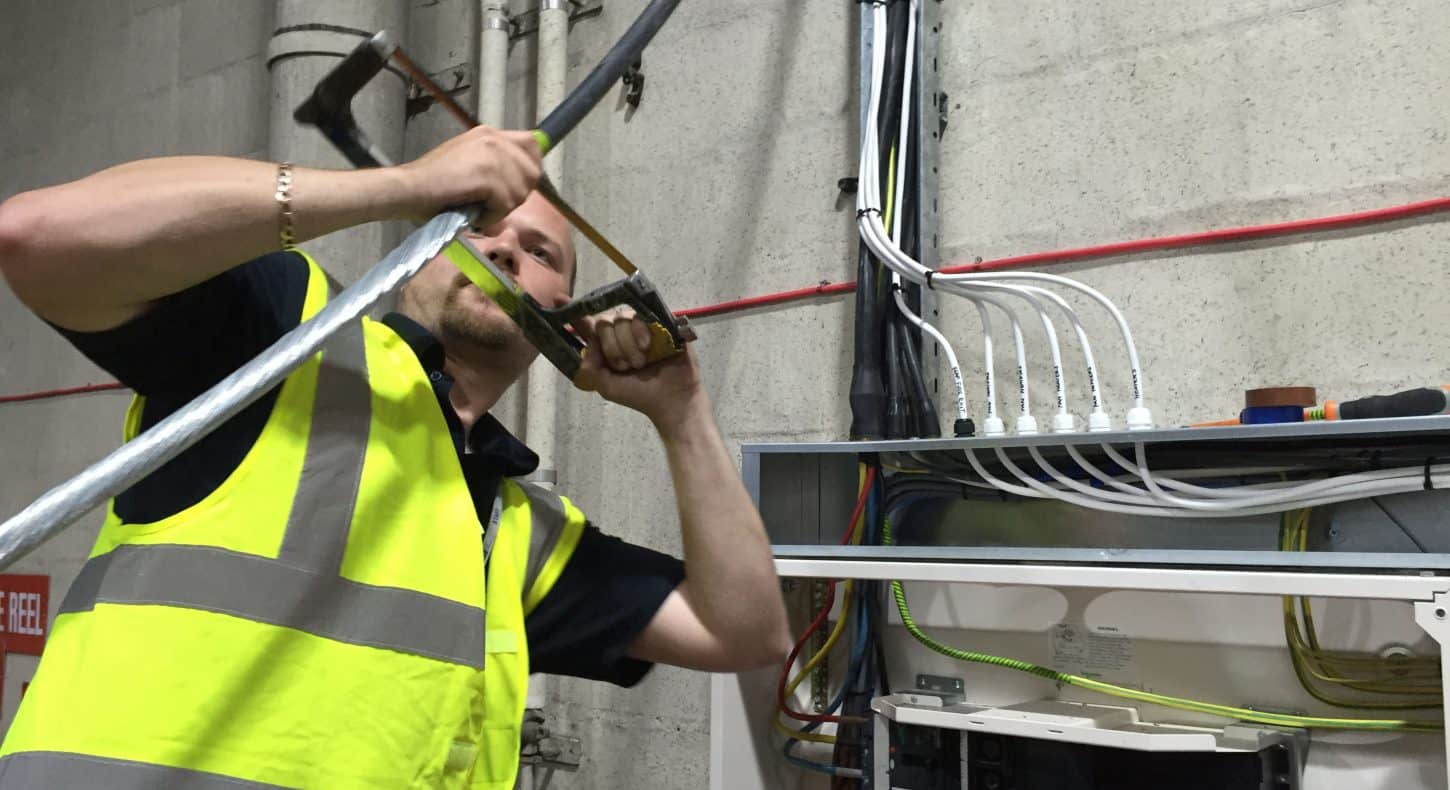 Electrical cable alterations in warehouse in essex