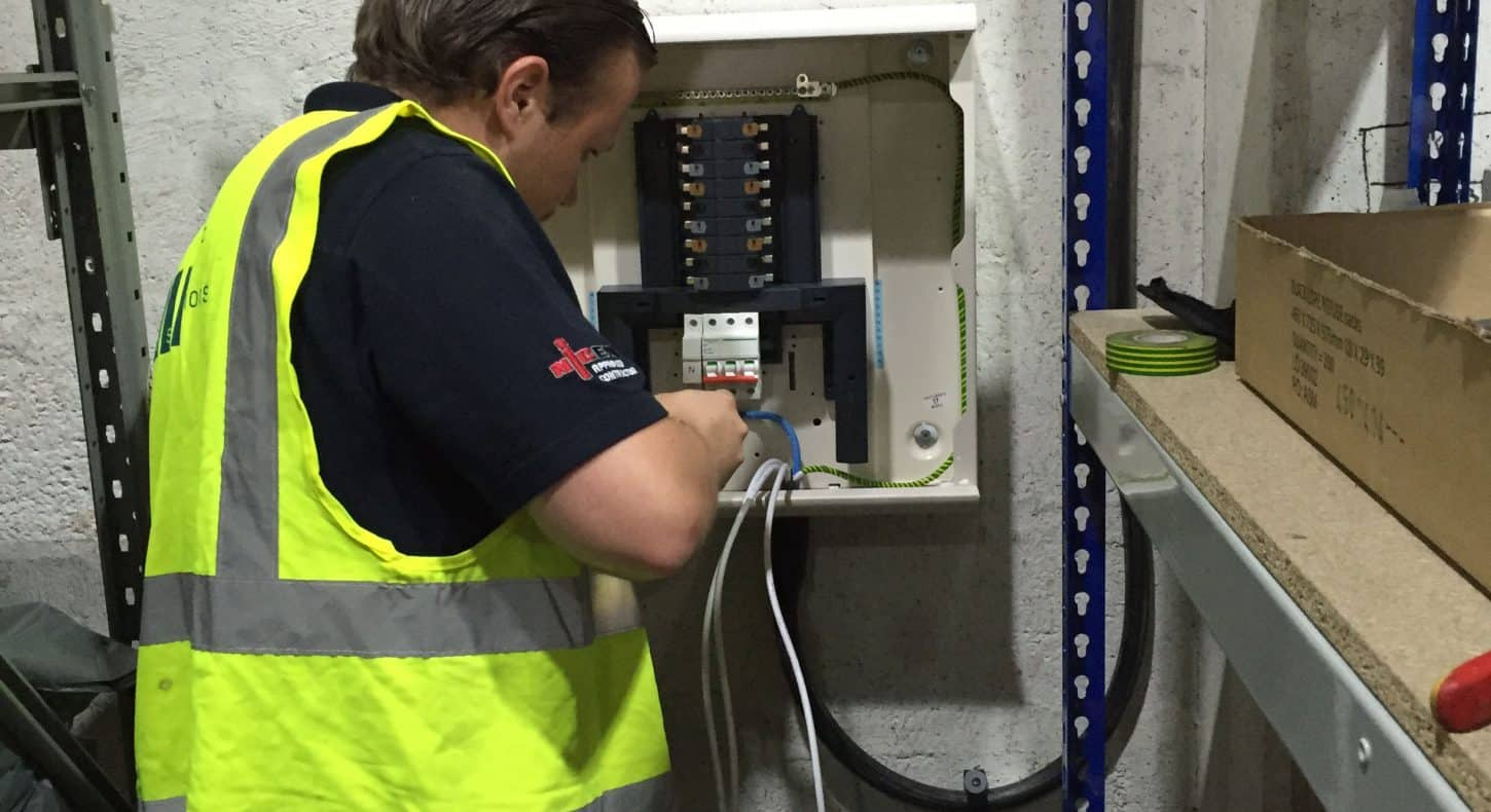 Electrical cabling moves in warehouse in Essex