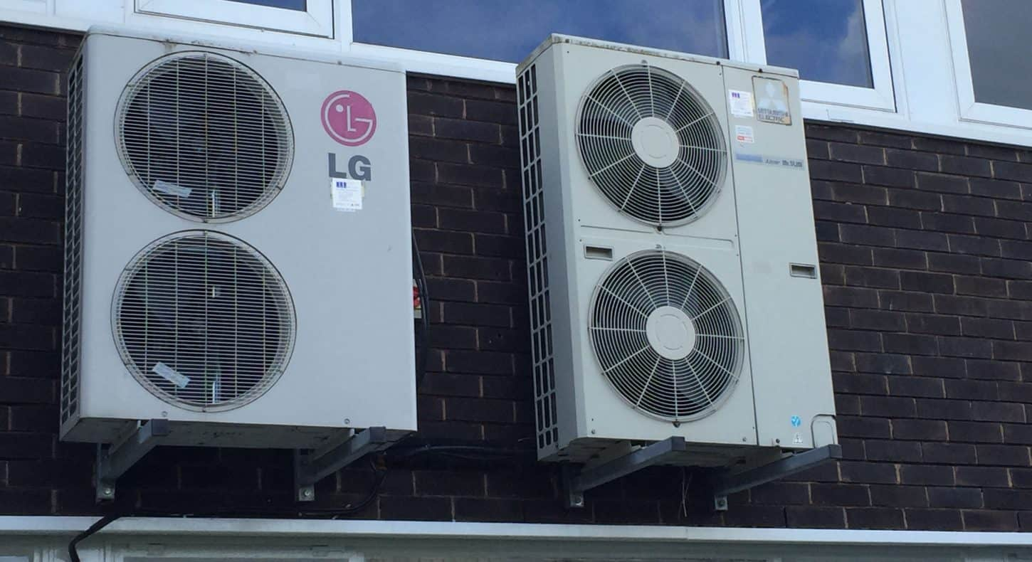 Wall mounted air conditioning units at school