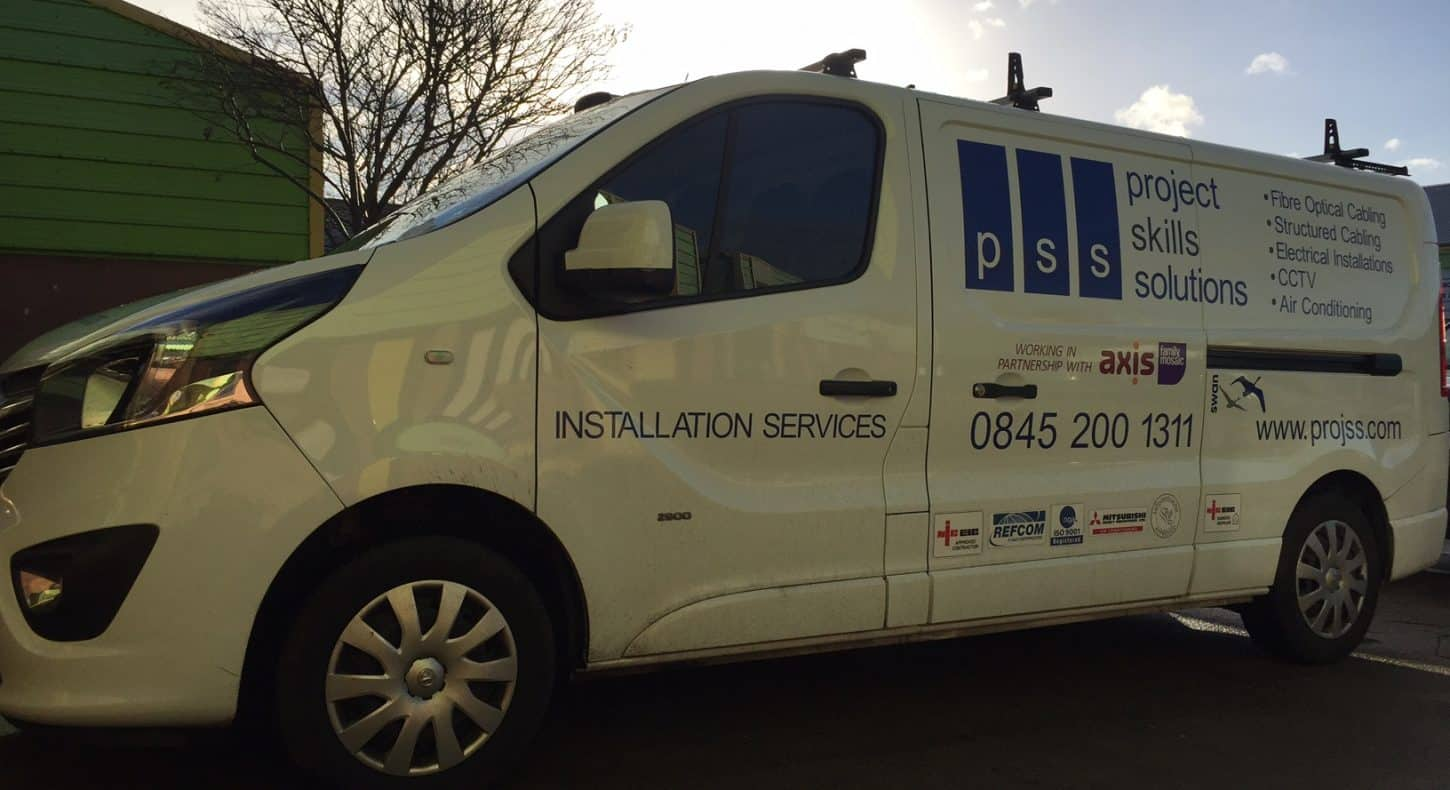 PSS Van - Electrical services. Van at sunset