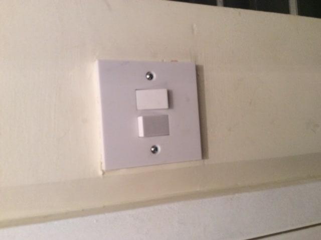 New light switch installation.