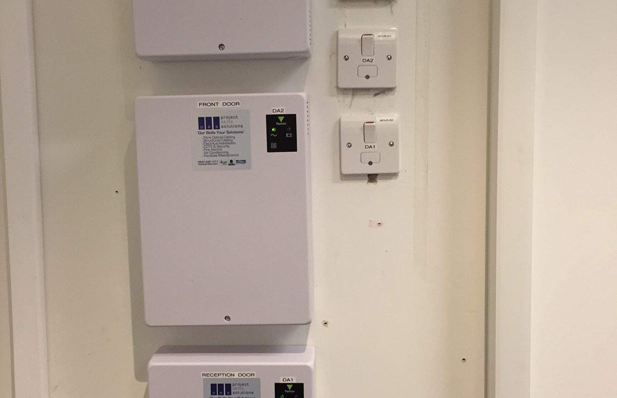 Door access system in London. Door access panels, electrical services.