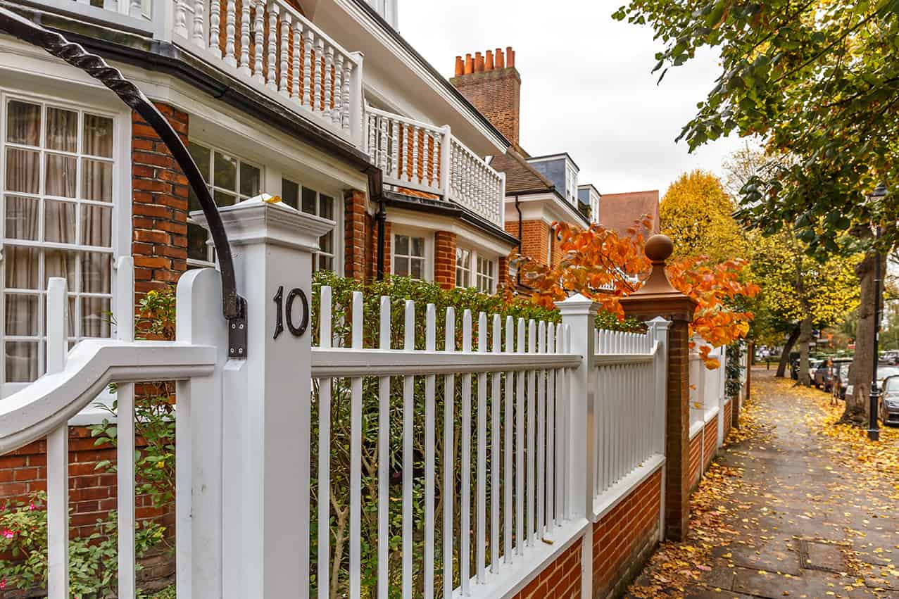 Domestic houses in UK street - domestic electrical services