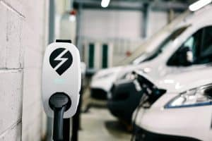 car next to electric vehicle charging solution