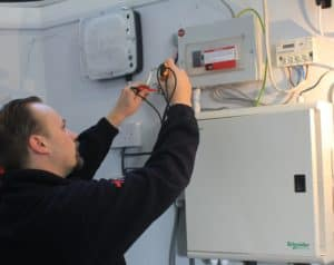 Electrical safety certificate for landlords testing being carried out