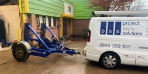 Cable Installation van and trailer