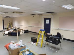 Electrical distribution cabling installation