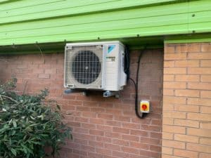 Air Conditioning external unit installed to wall